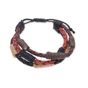 Men's boho handmade leather bracelet